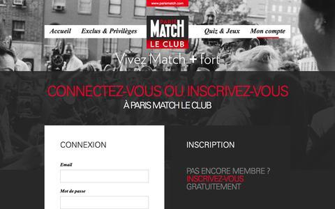 Screenshot of Login Page parismatch.com - Profile, Parismatch - captured Dec. 14, 2015