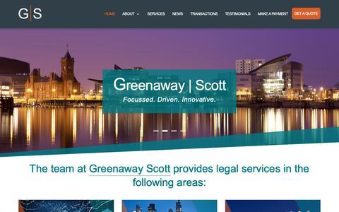 Screenshot of Home Page greenawayscott.com - Greenaway Scott - captured Nov. 5, 2018