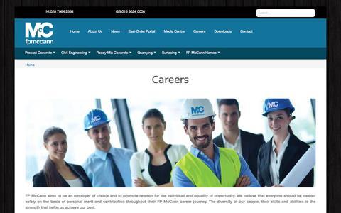 Screenshot of Jobs Page fpmccann.co.uk - FP McCann | Careers | Recruitment | Jobs | Employment - captured Nov. 3, 2014