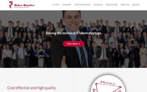 Screenshot of Home Page bakerboucher.com - Home - Baker Boucher - captured May 31, 2017