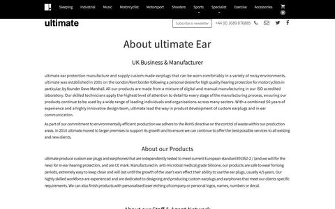Screenshot of About Page ultimateear.com - About Ultimate Ear  :: Ultimate - captured Oct. 2, 2018