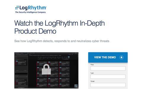 Watch the LogRhythm In-Depth Product Demo | LogRhythm