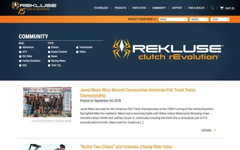 Screenshot of Press Page rekluse.com - News | Rekluse - captured Oct. 1, 2018