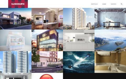 Screenshot of Home Page ilusiomatic.com.br - Ilusiomatic Studio - captured Oct. 4, 2014