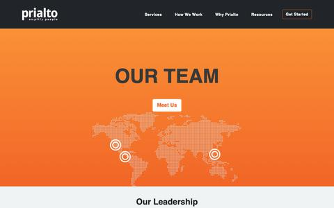 Screenshot of Team Page prialto.com - Team - captured Jan. 27, 2019
