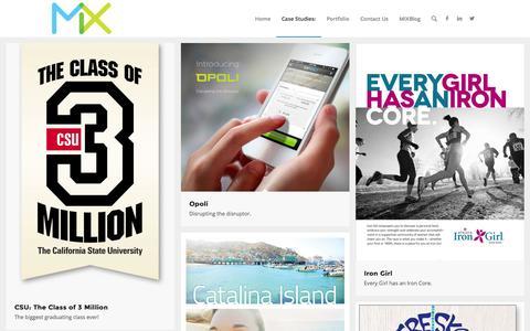 Screenshot of Case Studies Page mixmarketing.com - Mix Marketing |   Case Studies - captured Oct. 3, 2014