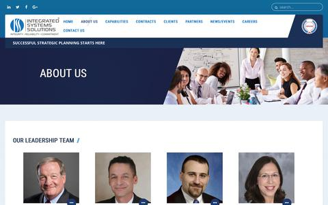Screenshot of Team Page issmgmt.com - Integrated Systems Solutions - Corporate Leadership - captured Oct. 15, 2017