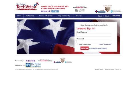 Screenshot of Login Page newenglandtechvets.org - New England Tech Vets - captured Oct. 30, 2014