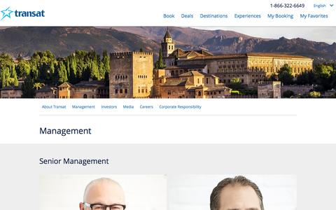 Screenshot of Team Page transat.com - Management | Transat A.T. inc. - captured Dec. 23, 2016