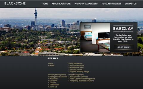 Screenshot of Site Map Page blackstone.co.nz - Site Map for  Black Stone Group - captured Nov. 3, 2014