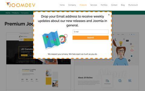 Screenshot of Products Page joomdev.com - ✔ Joomla 3.8 Templates | Responsive Joomla Templates | Latest Joomla Template - captured Oct. 16, 2017