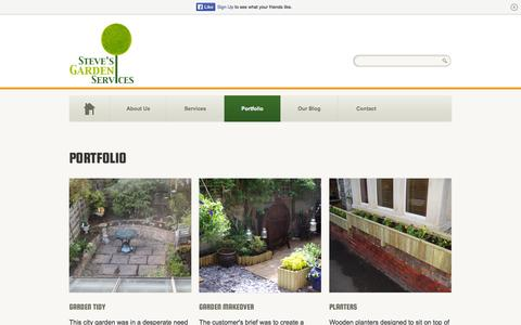 Screenshot of Products Page stevesgardenservices.biz - Portfolio - Some of our previous workSteve's Garden Services - captured Oct. 25, 2014