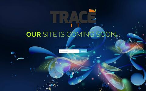 Screenshot of Home Page trace-itonline.com - Trace-IT! - Our Website is Coming Back Soon - captured Jan. 27, 2015