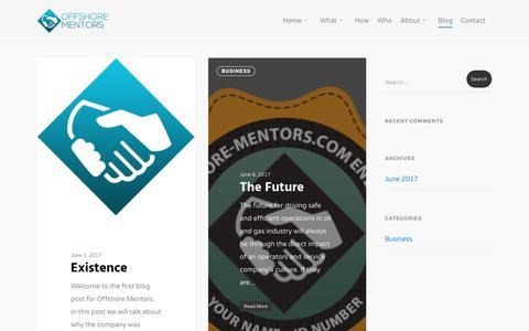 Screenshot of Blog offshore-mentors.com - Blog - Offshore Mentors - captured June 16, 2017