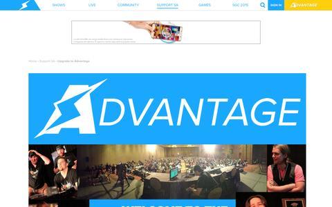 Screenshot of Signup Page screwattack.com - Upgrade to Advantage   ScrewAttack.com - captured Oct. 20, 2015