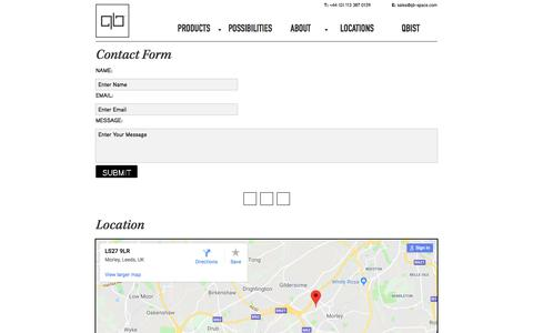 Screenshot of Contact Page Locations Page qb-office.com - Locations - captured July 14, 2018