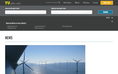 Screenshot of Press Page tujobs.com - News - captured Oct. 1, 2014