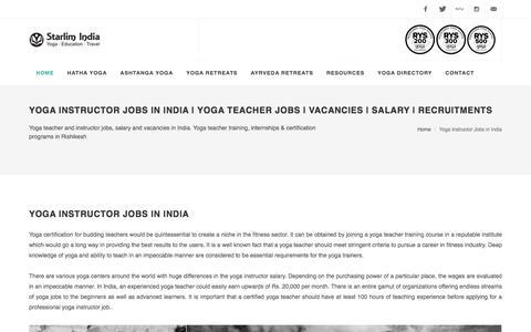 Yoga Instructor Jobs in India | Yoga Teacher Jobs | Vacancies | Salary | Recruitments