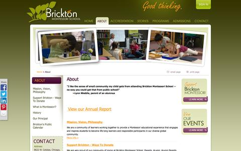 Screenshot of About Page brickton.org - About - captured Oct. 5, 2014