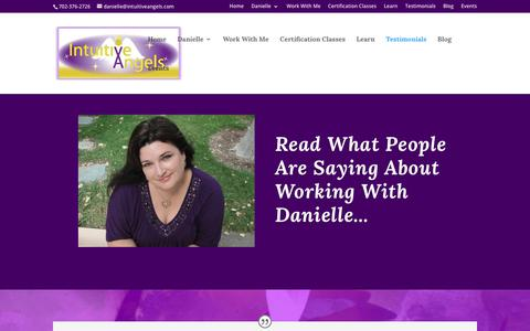 Screenshot of Testimonials Page intuitiveangels.com - Testimonials - Intuitive Angels - captured July 13, 2018