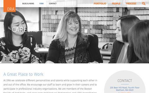 Screenshot of Jobs Page draws.com - Careers - DRA Architects - captured Feb. 8, 2018