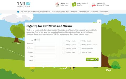 Screenshot of Signup Page tmi.co.uk - Customer Experience | Customer Experience Consultancy | TMI - captured Oct. 9, 2014