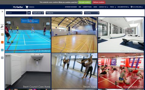Screenshot of Case Studies Page gerflor.co.uk - Case studies floors for professional use : Gerflor Contract & Sports Flooring - captured March 3, 2016