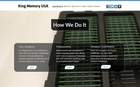 Screenshot of Team Page kingmemoryusa.com - King Memory - How We Do It - captured Feb. 17, 2016