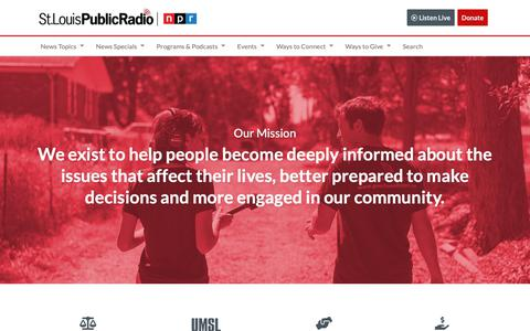 Screenshot of Jobs Page stlpublicradio.org - Careers with St. Louis Public Radio - captured Dec. 2, 2018