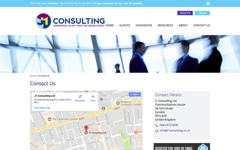 Screenshot of Contact Page j1consulting.co.uk - Contact Us - J1 Consulting - captured Sept. 30, 2017