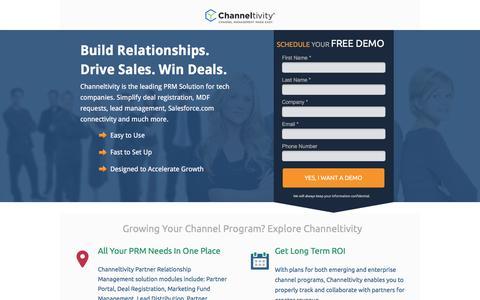 Screenshot of Landing Page channeltivity.com - Channeltivity Channel Management Software - captured Aug. 8, 2016