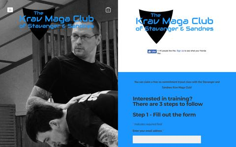 Screenshot of Signup Page kravmagastavanger.com - Sign up - The Krav Maga Club of Stavanger & Sandnes - captured Sept. 24, 2018