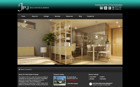 Screenshot of Home Page jpjre.com - JPJ Real Estate & Design  - Long Island, Brooklyn, Queens, Manhattan Residential Real Estate - captured Oct. 6, 2014