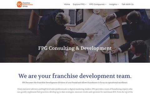 Screenshot of Services Page franchiseperformancegroup.com - Outsourced Franchise Sales | Full Franchise Development Solutions - captured Aug. 21, 2018