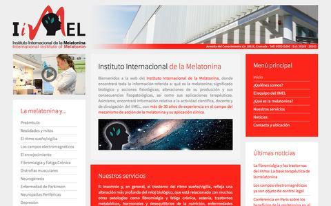 Screenshot of Home Page iimel.es - Instituto Internacional de la Melatonina - captured Nov. 26, 2016