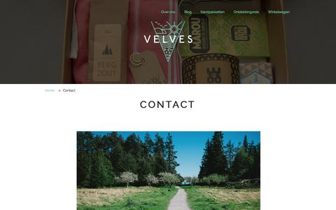 Screenshot of Contact Page velves.nl - Contact - captured Oct. 7, 2014