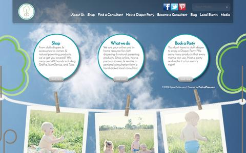 Screenshot of Home Page diaperparties.com - DiaperParties.com - captured Oct. 5, 2014