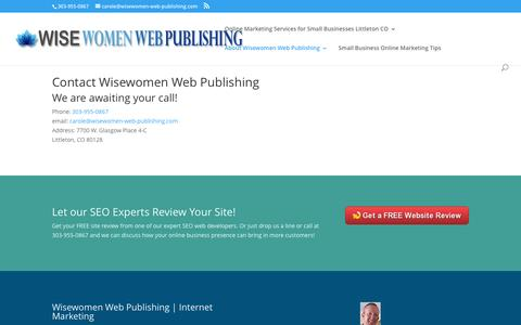 Screenshot of Contact Page wisewomen-web-publishing.com - Contact - Wisewomen Web Publishing Local Lead Generation - captured Dec. 14, 2016