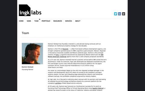 Screenshot of Team Page ingk.com - Team | Ingk Labs - captured Sept. 16, 2014
