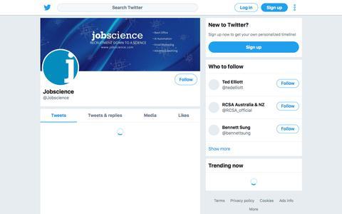Tweets by Jobscience (@Jobscience) – Twitter