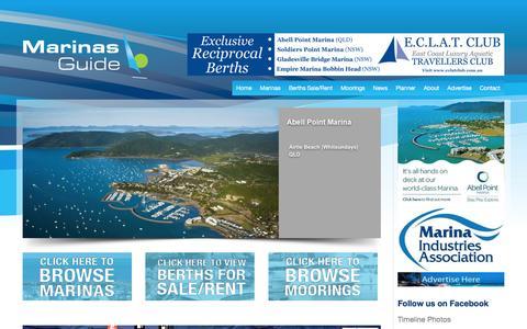 Screenshot of Home Page marinasguide.com.au - Home | Marinas Guide - captured Feb. 6, 2016