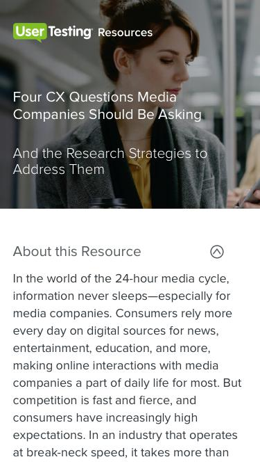 Four CX Questions Media Companies Should Be Asking | UserTesting