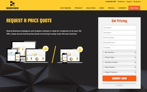 Pricing for Business Intelligence & Analytics Software | Sisense