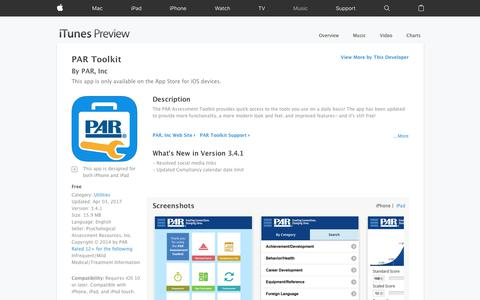 PAR Toolkit on the App Store