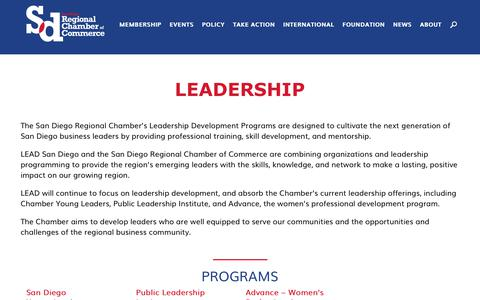 Screenshot of Team Page sdchamber.org - Leadership - SD Regional Chamber - captured Oct. 5, 2017