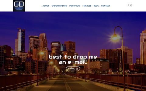 Screenshot of Contact Page gasmandesign.com - Web Design Contact in Minneapolis – Gasman Design - captured Sept. 25, 2018