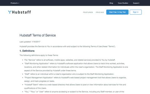 Hubstaff Terms of Service