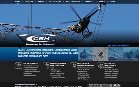 Screenshot of Home Page cbhelos.com - CBH | - captured Oct. 2, 2014