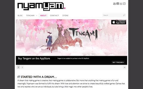 Screenshot of About Page nyamyam.com - About | Nyamyam - captured Oct. 26, 2014