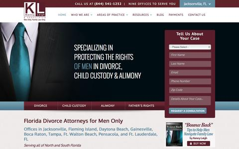 Screenshot of Home Page Site Map Page menonlyfamilylawonly.com - Divorce Attorney For Men in FL | Florida Divorce Lawyer - captured Feb. 12, 2016